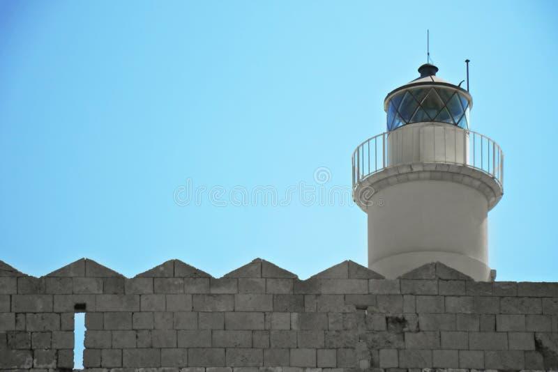 Lighthouse closeup stock image