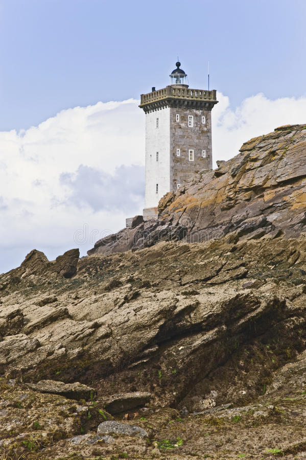 Download Lighthouse By The Coast In Britain With Clouds Stock Image - Image: 25721215