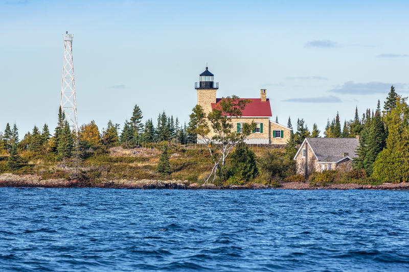 Lighthouse at Copper Harbor royalty free stock photo