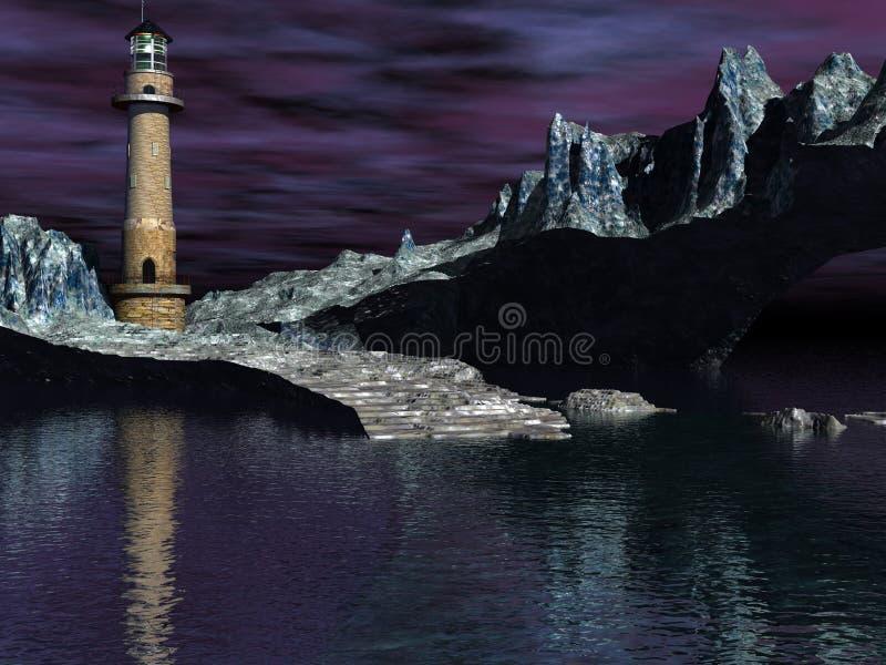 Lighthouse Cove Stark Royalty Free Stock Photos