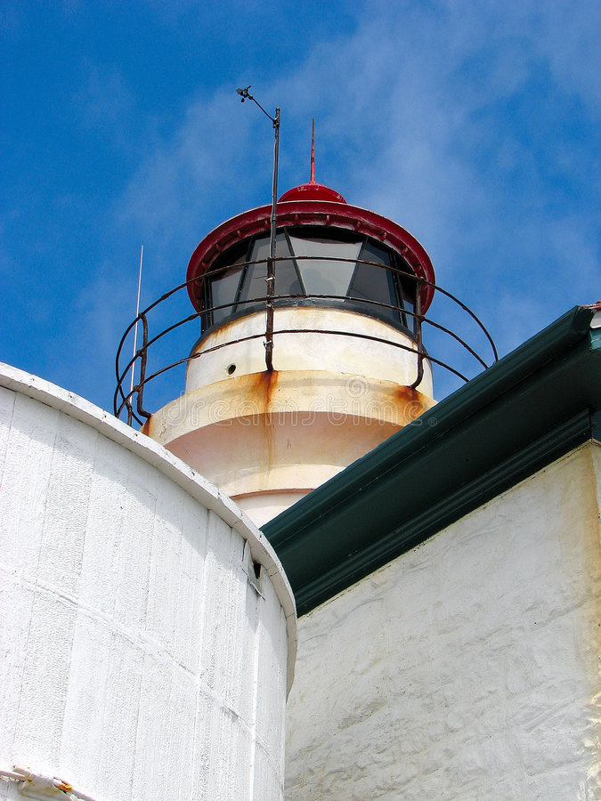 Lighthouse in Cresent City royalty free stock photo