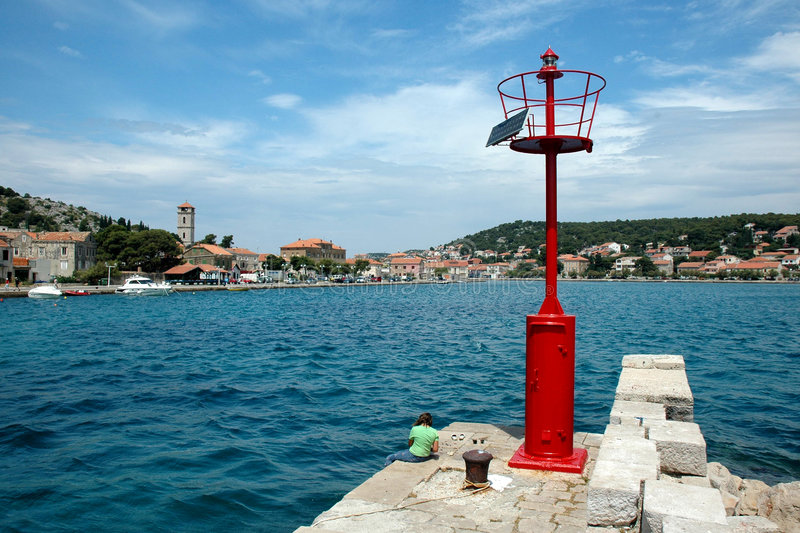 Lighthouse in Croatia royalty free stock images