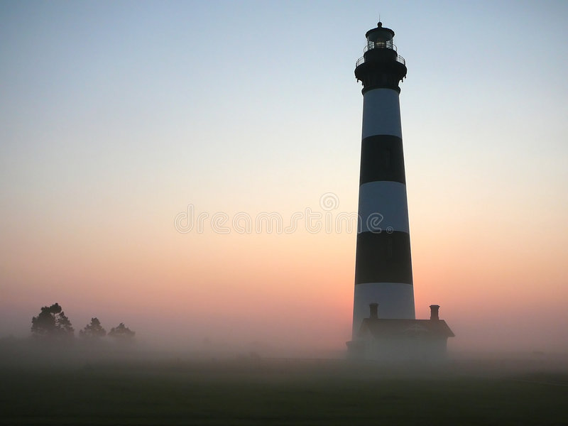 Lighthouse dawn royalty free stock photography