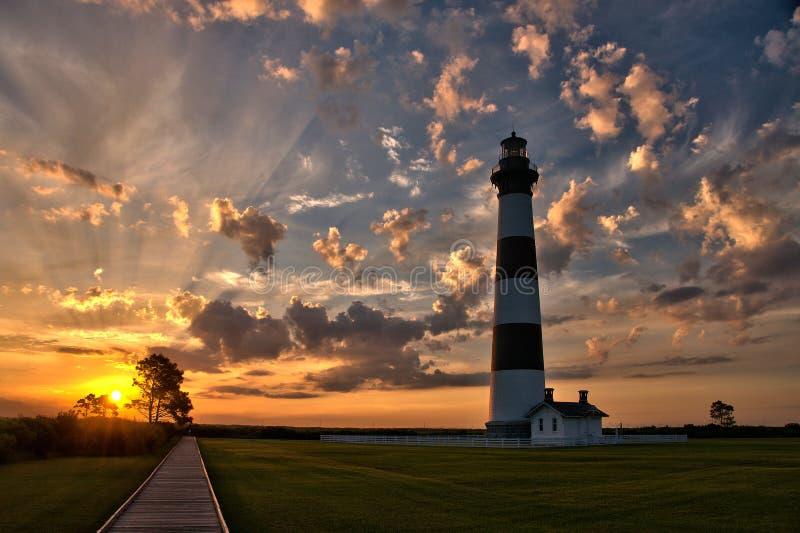 Lighthouse Dawn stock photo