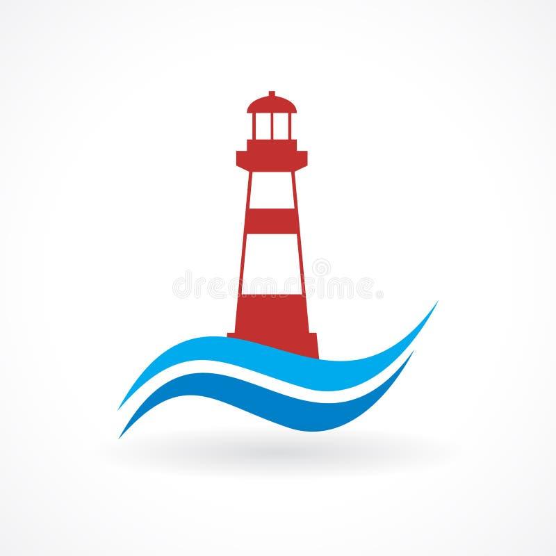 Lighthouse design stock illustration