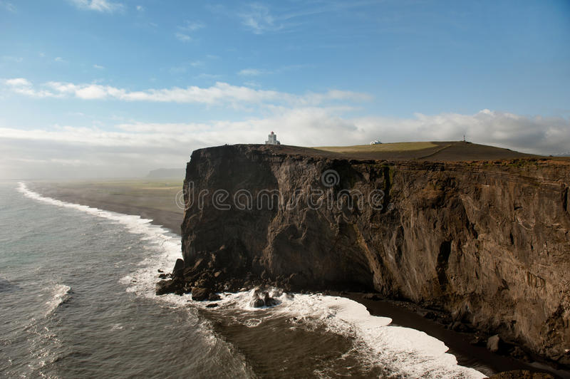 Lighthouse in the distance royalty free stock photo