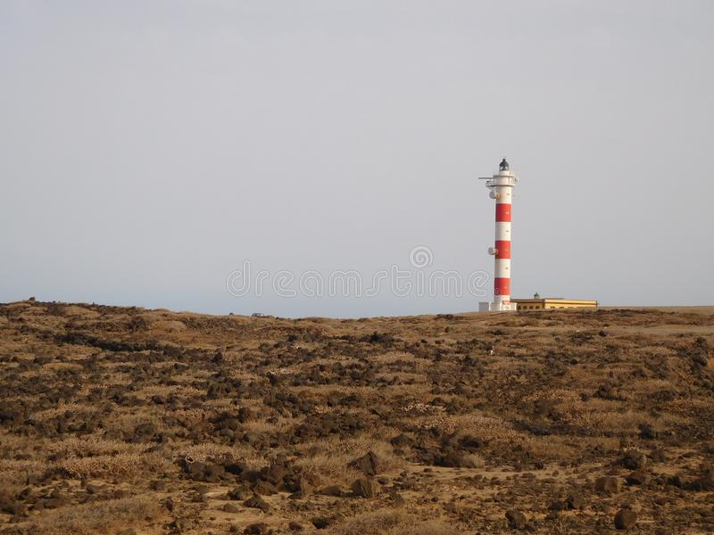 Lighthouse in the Distance Taken in Portugal royalty free stock images