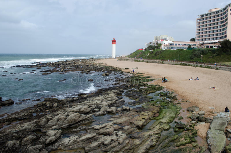 Download Lighthouse in Durban stock photo. Image of rocks, durban - 36207284