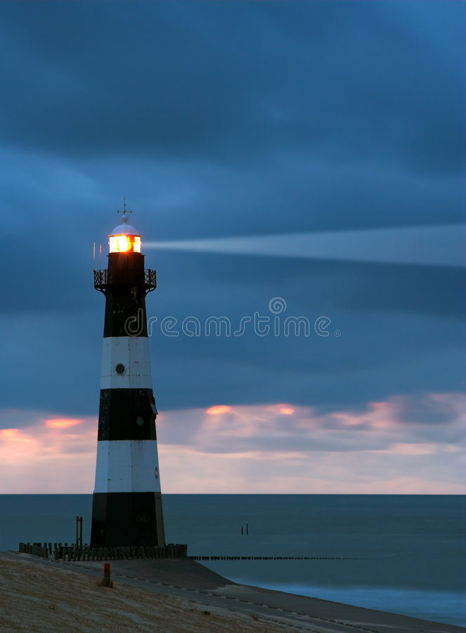 Download Lighthouse in the dusk stock photo. Image of aspiration - 1199538