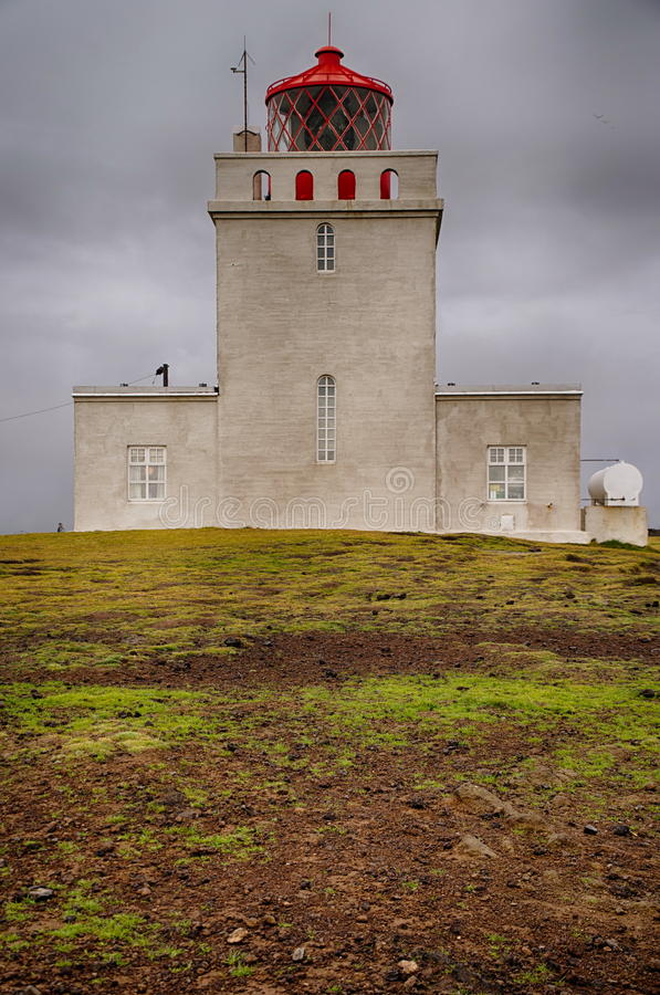 Lighthouse of Dyrholaey. In Iceland royalty free stock photos