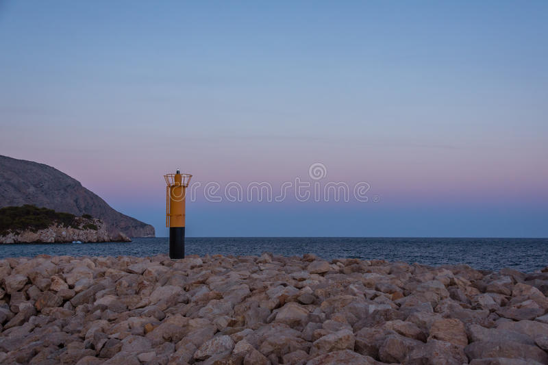 Lighthouse in evening. Costa blanca. Spain royalty free stock photos