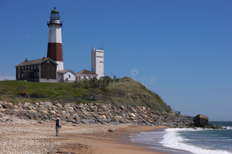 Lighthouse Fisherman stock images