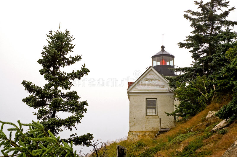 Download Lighthouse in fog stock image. Image of heavy, marine - 2922137