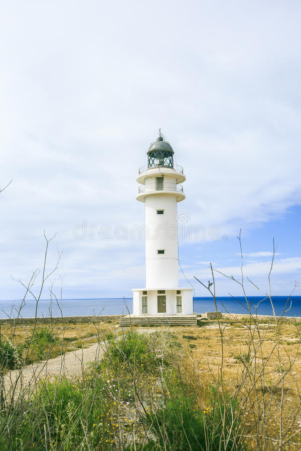 Lighthouse in Formentera. Old nLighthouse in Formentera island royalty free stock photography