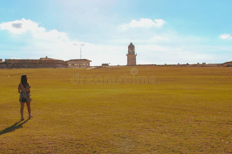 Lighthouse at the Fort in Havana royalty free stock photo