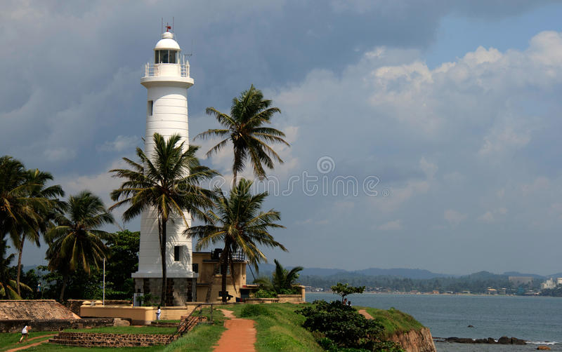 Lighthouse in Galle - Sri Lanka. South of Sri Lanka royalty free stock image