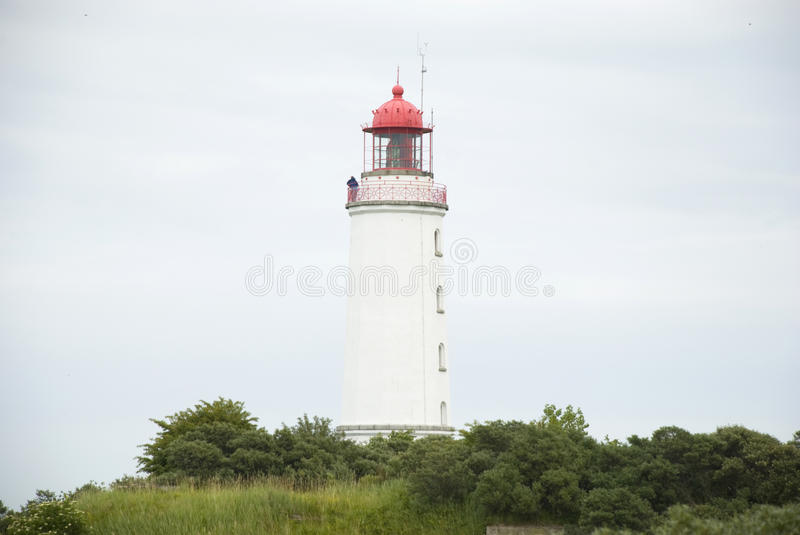Lighthouse on german island Hiddensee royalty free stock photo