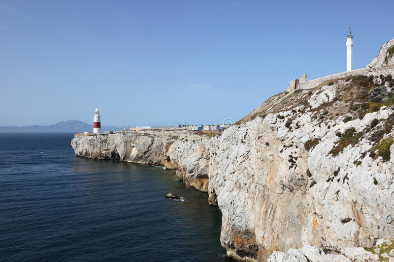 Download Lighthouse in Gibraltar stock image. Image of europe - 33450239