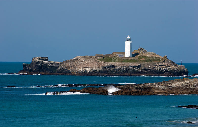 Godrevy Lighthouse North Cornwall royalty free stock images