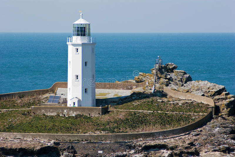 Godrevy Lighthouse Cornwall stock photography