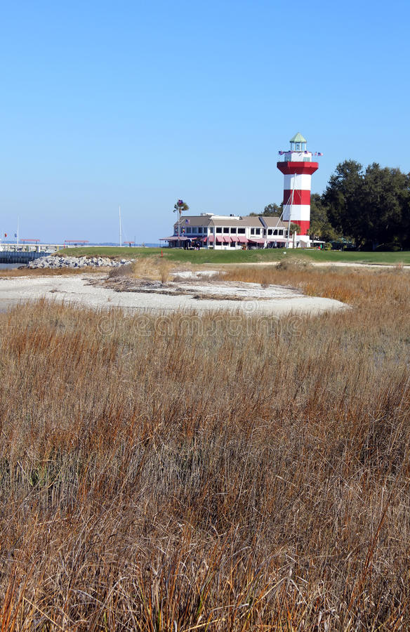 Lighthouse from Golf Course royalty free stock photos