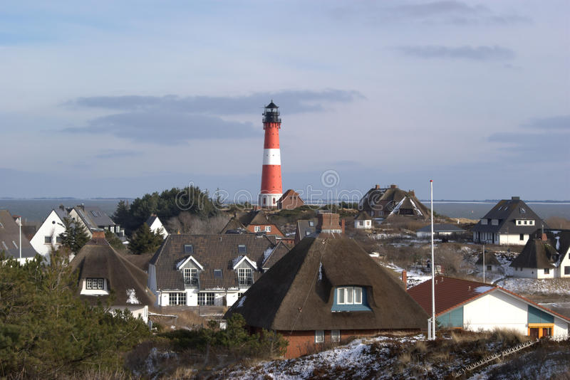 The lighthouse of Hörnum stock photos