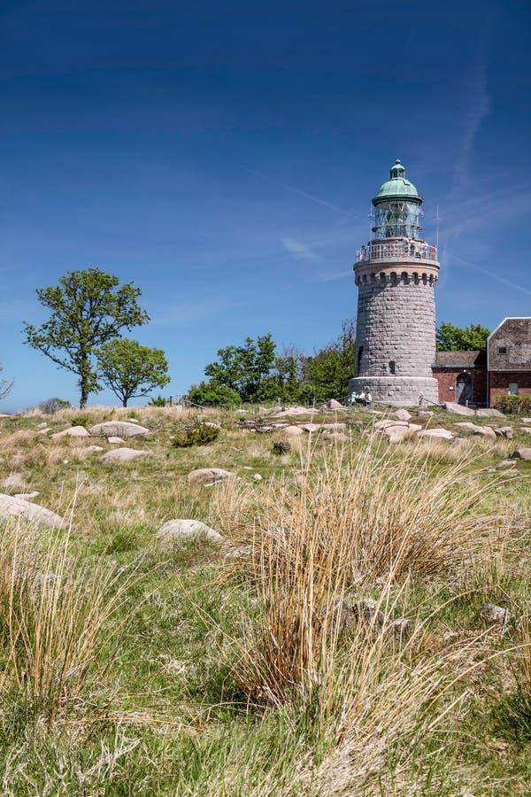 Lighthouse Hammeren Fyr on Bornholm royalty free stock images