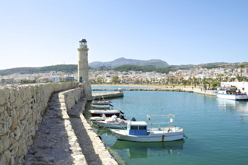 Lighthouse in the harbor of Rethymno