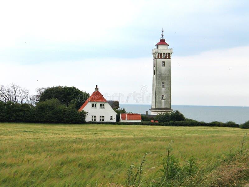 Lighthouse in Helnaes Denmark. The lighthouse of Helnaes Denmark year built 1900 stock images