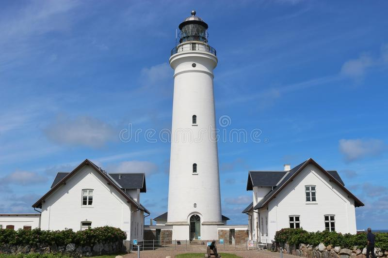 Lighthouse in Hirtshals, Denmark. Lighthouse in Hirtshals, Denmark, erected in 1863. Hirtshals is an important port town in North Jutland. Scandinavia, Europe stock photos