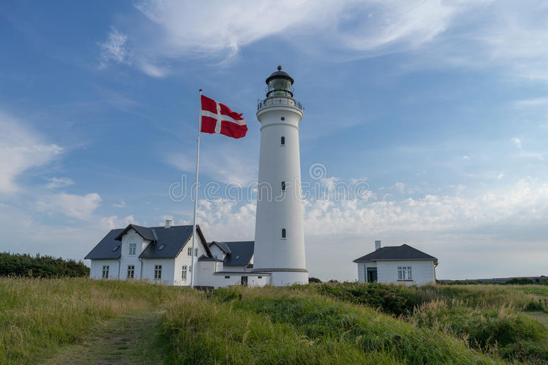 Lighthouse of Hirtshals in denmark. Scenic view of lighthouse of Hirtshals in denmark royalty free stock photo