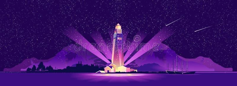 Lighthouse hope sailor stock illustration