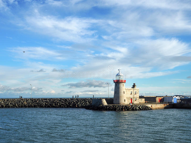 Lighthouse in Howth, Dublin stock photo