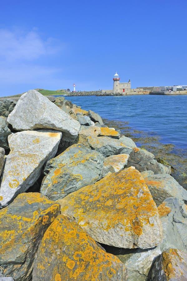 The lighthouse in howth near dublin, ireland