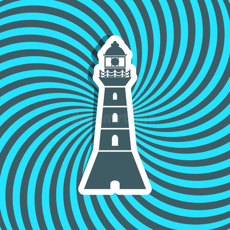 Download Lighthouse stock vector. Image of illustration, beach - 42923774