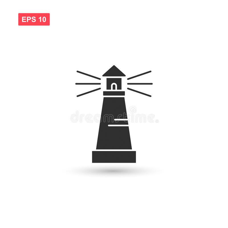 Lighthouse icon vector design isolated 3. Eps10 stock illustration