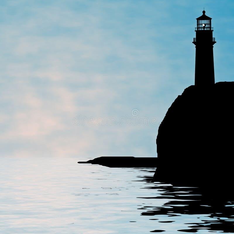 Lighthouse illustration royalty free stock photography