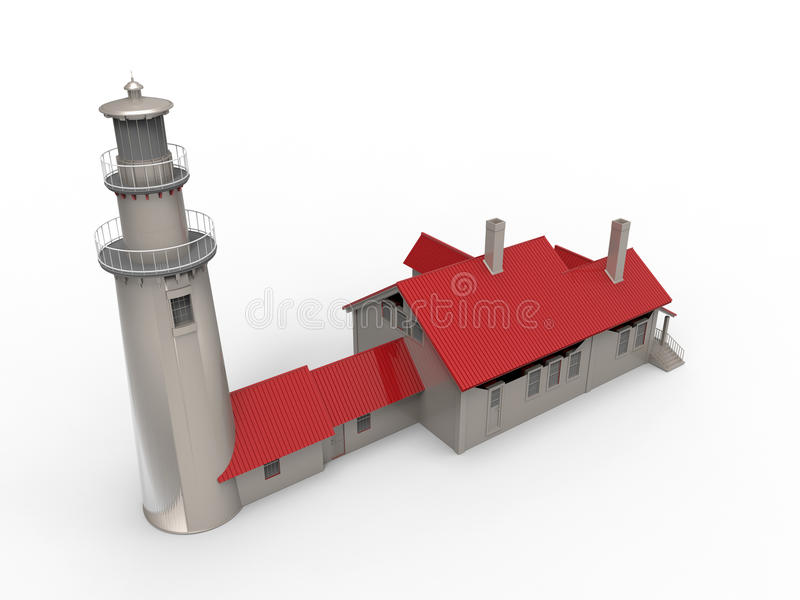 Lighthouse illustration royalty free illustration