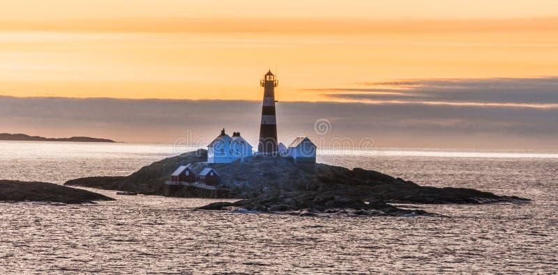 Lighthouse on island royalty free stock photos