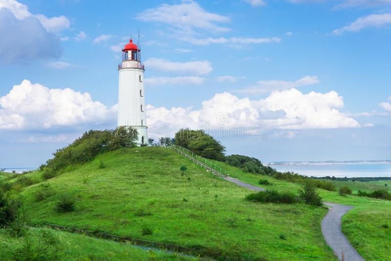 Lighthouse on the island Hiddensee, Germany. Lighthouse on the island Hiddensee in the Baltic Sea, Germany stock images