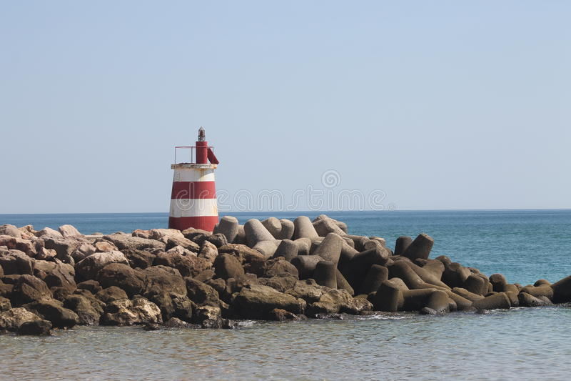 Lighthouse, Island Tavira Portugal stock photo