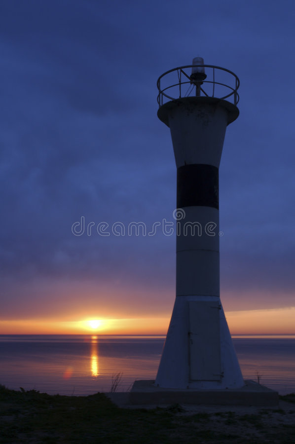 Download Lighthouse IV stock photo. Image of silhouette, ocean, inertia - 35154