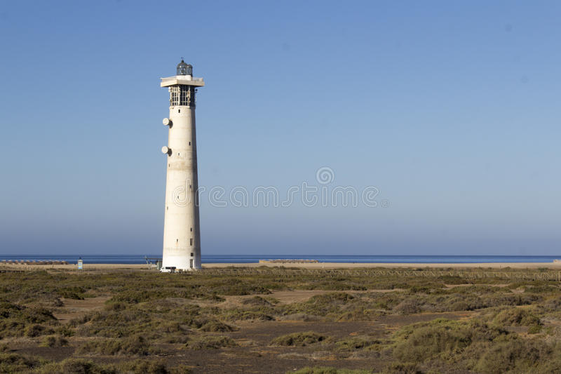 Lighthouse in Jandia stock image