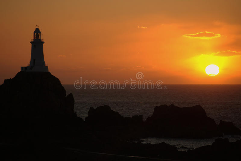 Lighthouse in jersey stock photos
