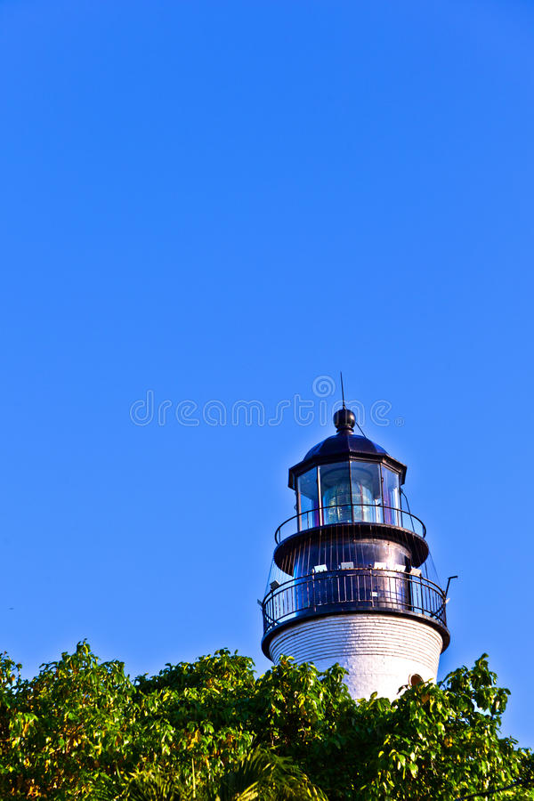 Lighthouse from Key West in Florida stock photography