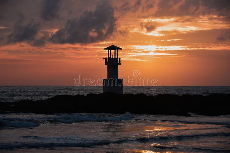 Lighthouse Khao Lak Thailand Centara Seaview resort Khao Lak royalty free stock image