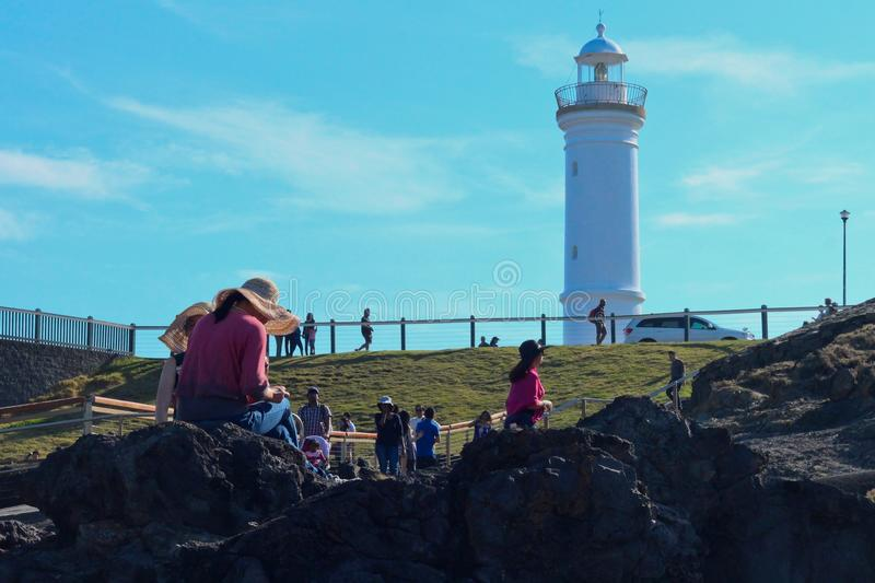 Lighthouse at Kiama stock photos