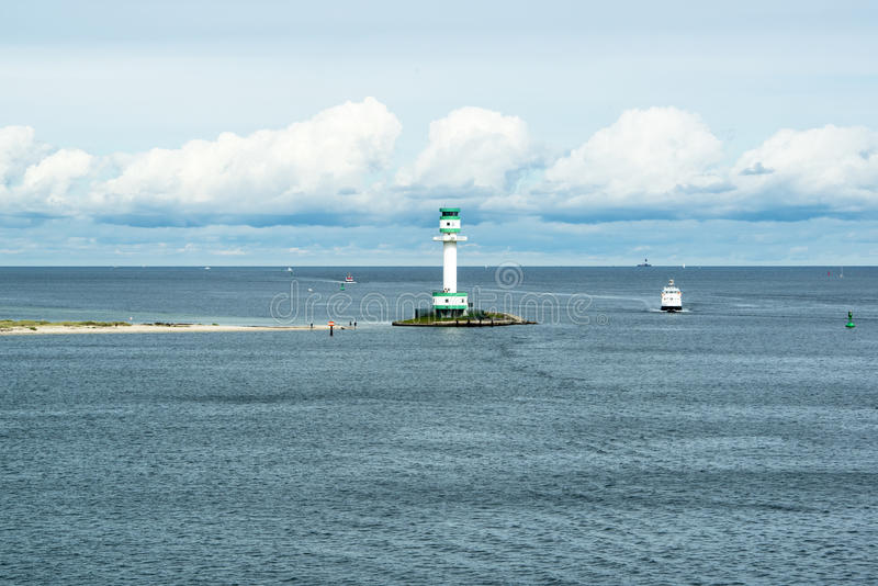 Lighthouse in Kiel, Baltic Sea royalty free stock image