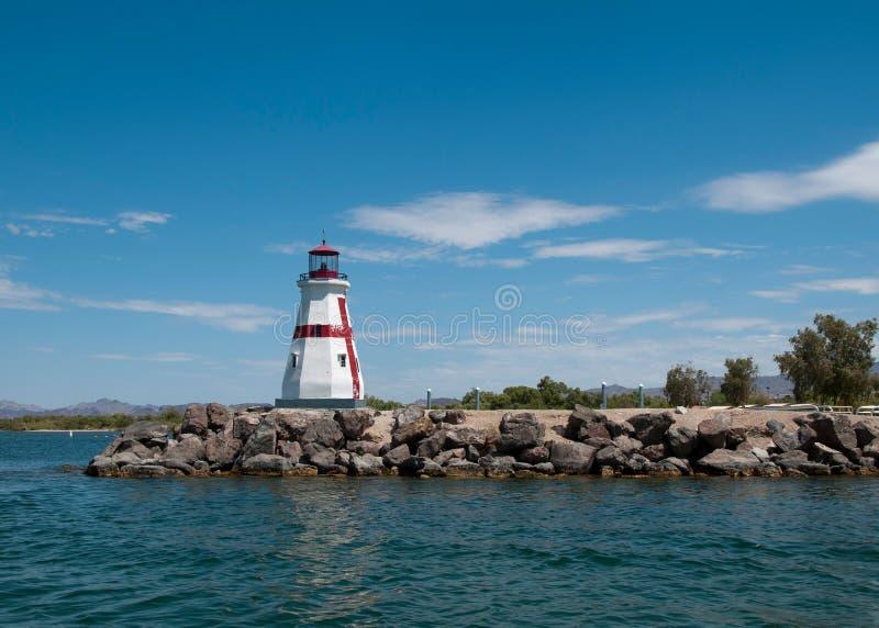 Lighthouse in Lake Havasu City, AZ stock image