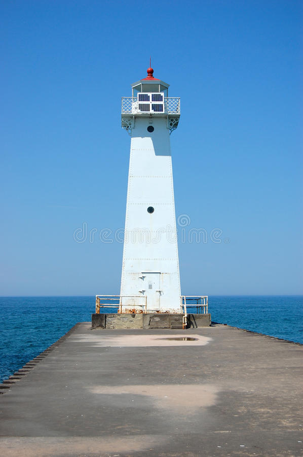 Sodus Outer Lighthouse on Lake Ontario. In Sodus Point, New York State, USA royalty free stock image